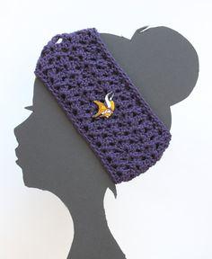 Hey, I found this really awesome Etsy listing at https://www.etsy.com/listing/179093561/minnesota-vikings-nfl-headband