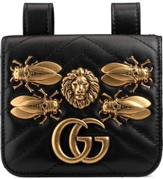 ed142e12c8993 Gucci GG Marmont animal studs belt accessory Gucci Outfits, Fashion Bags,  Gucci Fashion,