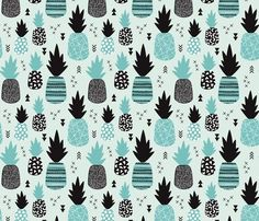 Please give credit © Little Smilemakers Studio - Maaike Boot  Super cool pineapple design for summer and summer lovers. Fun design for kids fashion and home decoration.