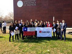 Foto de grupo al acabar las clases de Neuromarketing con los alumnos de INACAP Chile en UPV Valencia