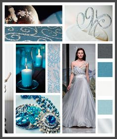 Lizzy B Loves visual + sparkle = inspiration : winter wedding (click on image to view in full) #wedding_inspiration #wedding_color_palette #color_palette_inspiration
