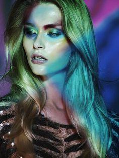 The Model wear Makeup beauty shoot for Citizen K International Magazine October 2016 issue