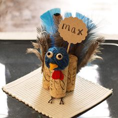 Turkey Crafts for Kids: I found a use for all those corks I've been saving!!  These are so cute: )