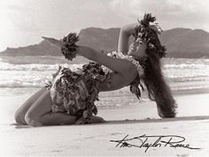 """""""Hula Noho"""". Kim Taylor Reece, Hawaii's foremost fine artphotographer, has been studying hula kahiko for nearly 30 years. A catalyst of Hawaii's Cultural Ren"""
