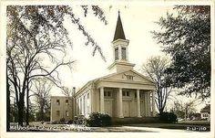 Perry Georgia GA 1940s Real Photo Collectible Vintage Postcard Methodist Church