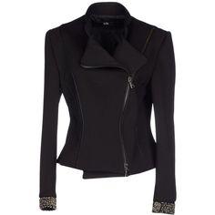 Mresale Blazer ($100) ❤ liked on Polyvore featuring outerwear, jackets, blazers, black, black mandarin collar jacket, black blazer, zip jacket, mandarin collar blazer and mandarin collar jacket