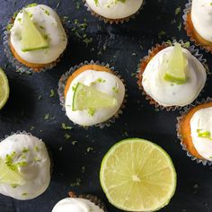Keto Salted Lime Margarita Cupcakes Inside