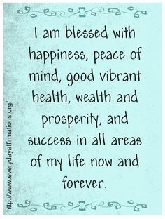 """Here's a positive affirmation to begin your day. You may choose to say this affirmation or begin one of your own with the words, """"I am..."""""""