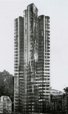 "Mies van der Rohe, Model for ""Second Scheme for a Glass Skyscraper"" (Unbuilt), (1922)"