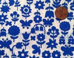 Vintage Floral Cotton Fabric 34 width