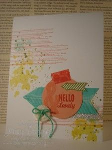 Hello, Lovely Grunge Card, Jenny Peterson, Stampin' Up! Demonstrator, Paper crafting, www.lakeshorestamping.com