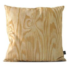 Love these pillow covers made of canvas and printed on both sides with digital images of hard materials such as concrete, plywood, brick and rocks.