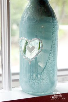 I have a real problem throwing away perfectly good glass jars and bottles. To me they are little craft gems waiting for me to transform them.With Mother's Day and Teacher Appreciation coming up, I decided to turn some of our recycled bottles into cute gifts for Mom and my sons' teachers. Before you begin this …