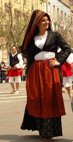 Sardinien - Costume di Cabras