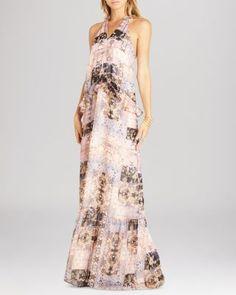 BCBGeneration Printed Ruffle Trim Maxi Dress | Bloomingdale's