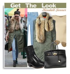 """""""Get The Look: Kendall Jenner"""" by hamaly ❤ liked on Polyvore featuring Dolce&Gabbana, 7 For All Mankind, 3.1 Phillip Lim, Yves Saint Laurent, Sandro and Hermès"""
