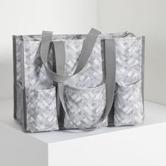 Mystic Grey Trendy Diaper Bags, Organizing Utility Tote, December Baby, Thirty One Gifts, Best Bags, Travel Bags, Pouch, Monogram, Mystic