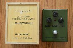 Electro Harmonix Sovtek Green Russian Big Muff Vintage Guitar Pedal Bubble Font #ElectroHarmonix