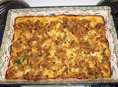 Cheesy Chicken Broccoli Stuffing Bake #cheese #stuffing #broccoli #cheesy #Brocolli #chicken #justapinchrecipes Chicken Broccoli Bake, Cheesy Chicken, Chicken Broccoli Stuffing Casserole, Casserole Recipes, Casserole Dishes, Chicken Recipes, Cooking Recipes, Healthy Cooking, Healthy Food