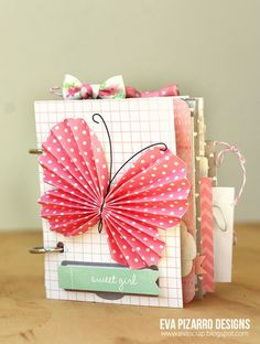 Baby themed envelope mini album created by using Smith Smith Inc. Great use of mini envelopes. Mini Album Scrapbook, Scrapbooking Album, Baby Scrapbook, Scrapbook Cards, Envelope Scrapbook, Baby Mini Album, Smash Book Pages, Paper Bag Album, Butterfly Cards