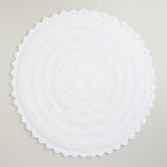 One of my favorite discoveries at WorldMarket.com: White Round Bath Mat