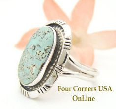 Four Corners USA Online - Size 8 Dry Creek Turquoise Sterling Ring Navajo Artisan Robert Concho Native American Jewelry NAR-1461, $133.00 (http://stores.fourcornersusaonline.com/size-8-dry-creek-turquoise-sterling-ring-navajo-artisan-robert-concho-native-american-jewelry-nar-1461/)