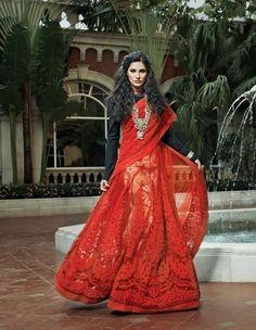 Nargis Fakhri in a beautiful lehenga saree
