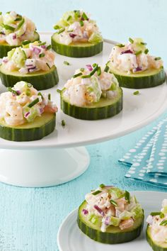 Shrimp Salad-Cucumber Appetizers – It doesn't take much effort to ...