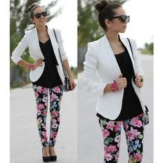 #fashion #floral #pants #outfit i loveee thisss