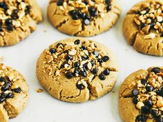 Peanut Butter Cookies with Chocolate-Peanut Topping | Oh, Ladycakes