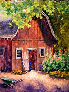 Grandpa's Barn by Ann Tristani Oil ~ 16 x 12