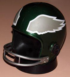 Vintage NFL Helmet Novelty Transistor Radio (Philadelphia Eagles) By Pro Sports Marketing, Made In USA, Copyright 1973.