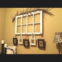 I want to do this for the nursery when I have kids someday! old window crafts | Bing : old window crafts | For the Home