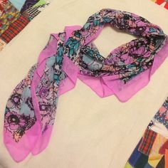 Perfect Floral Print Square Scarf Is in like new condition. Matches it all. Well loved and cared for with price accounting. Accessories Scarves & Wraps