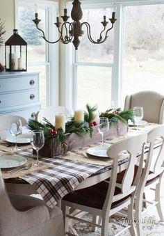find this pin and more on winter christmastime - Christmas Dining Room Table Centerpieces