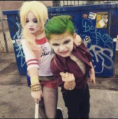 Too freakin awesome & cute! Suicide Squad-The Joker & Harley Quinn costumes