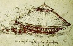 """Inventions by Leonardo Da Vinci - """"I shall make covered chariots, that are safe and cannot be assaulted; cars which fear no great numbers when breaking through the ranks of the enemy and its artillery. Behind them, the infantrymen shall follow, without fearing injury or other impediments""""  ~ Leonardo da Vinci"""