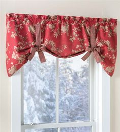 Main image for Tie-Up Floral Cotton Window Valance with Contrasting Ties