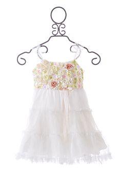 Little Mass LePink White Tinkerbell Girls Easter Dress...for abby
