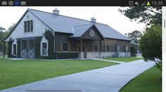 This is my dream home. ..its a morton steel building with brick wainscotting