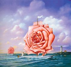 art-of-illlustration:Rafal Olbinski - Unsettled Tendency To See The World As It