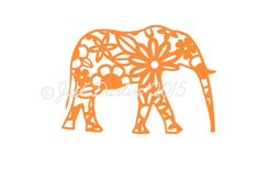 Elephant Decal  Floral Decal  Car Decal  Elephant Car by JDGifts