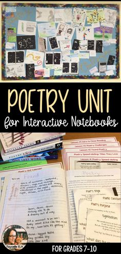 This poetry unit is based in Interactive Notebooks for older students. Students … This poetry unit is based in Interactive Middle School Ela, High School, Teaching Poetry, Teaching Tips, Handout, Found Poetry, Poetry Activities, 8th Grade Ela, Poetry Unit