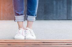 Leg, shoe, fashion, jeans, feet, canvas shoe, caucasian, bottom, front, street, city, young, wall, sun and summer HD photo by JESHOOTS.COM (@jeshoots) on Unsplash