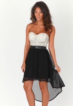 £29.99 - Miss Guided - Marle Bandeau Lace Asymmetric Dress