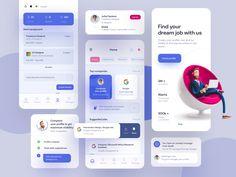 Job searching app by Akshay Devazya for Orizon: UI/UX Design Agency on Dribbble