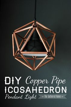 Copper Pendant Light / This copper pendant light will make a great center piece in living room decor.