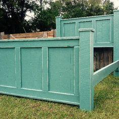Wood bed frame (TEAL)