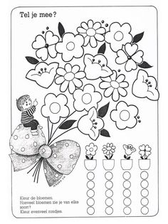 Kindergarten, Hidden Pictures, Games For Toddlers, Preschool Learning, Math Worksheets, Pre School, Spring Flowers, Activities, Handmade