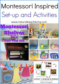 Montessori Inspired Set-up and Activities, Alphabet activities, themed learning, Fine motor skills, homeschool rooms and so much more.